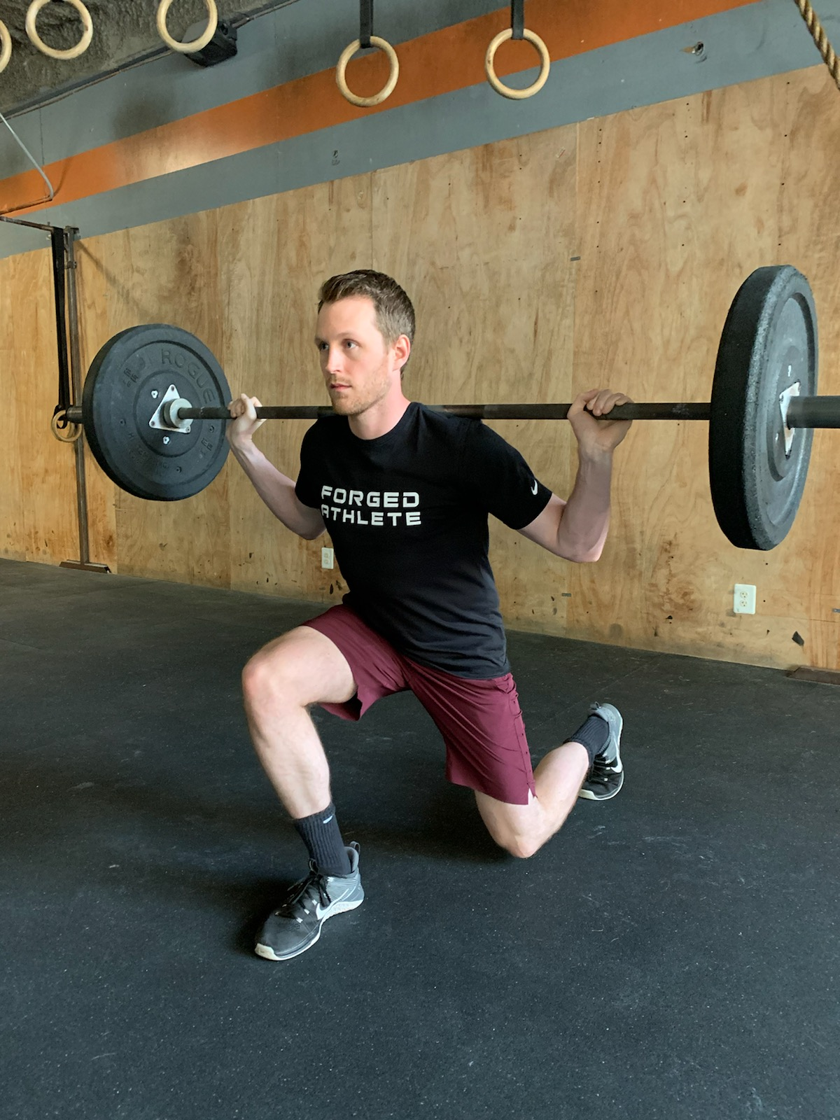 Lifting weights for jumper's knee.